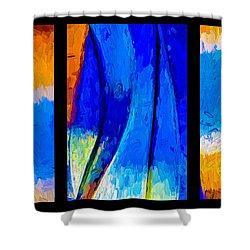 Shower Curtain featuring the photograph Desert Sky by Paul Wear