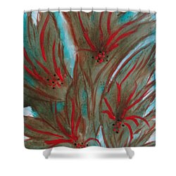 Shower Curtain featuring the painting Desert Spirits by Sharyn Winters