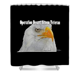 Desert Storm Eagle Shower Curtain by Bill Richards