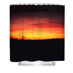 Desert Sundown Shower Curtain