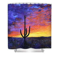 Desert Sunset 4 Shower Curtain by M Diane Bonaparte
