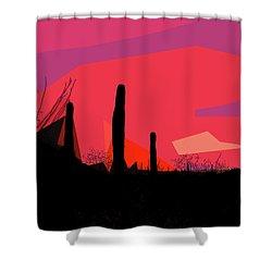 Desert Sunset In Tucson Shower Curtain