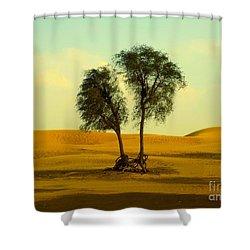 Desert Trees Shower Curtain