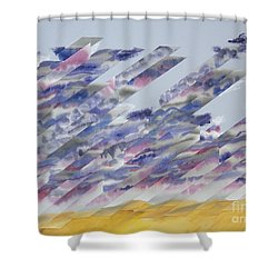 Desert Under Storm Shower Curtain