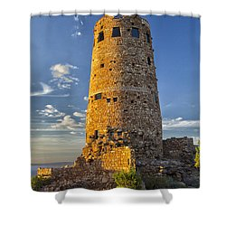 Shower Curtain featuring the photograph Desert View by Tom Kelly