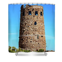 Desert View Watchtower At The Grand Canyon Shower Curtain