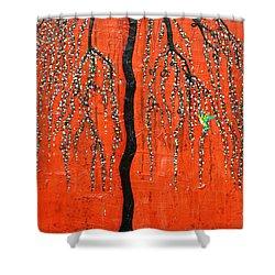 Desert Willow Shower Curtain by Natalie Briney