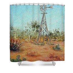 Desert Windmill Shower Curtain