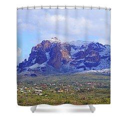 Desert Winter Shower Curtain