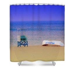 Deserted Beach Shower Curtain by Bill Cannon