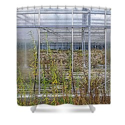 Deserted City Of Glass Shower Curtain