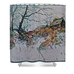 Deserted Clearing Shower Curtain by Carolyn Rosenberger