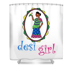 Desi Girl Shower Curtain