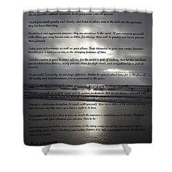Desiderata 12 Shower Curtain