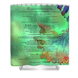 Desiderata #2 Shower Curtain