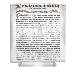 Desiderata 3 Shower Curtain by Desiderata Gallery