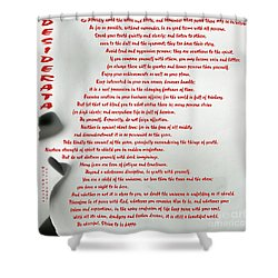 Shower Curtain featuring the photograph Desiderata 30 by Wendy Wilton