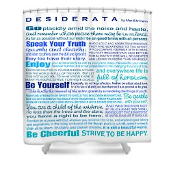 Desiderata - Blues - Square Format Shower Curtain