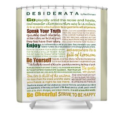Desiderata - Earthtones - Rectagular Format Shower Curtain