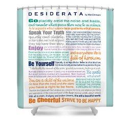 Desiderata - Multi-color - Rectangular Format Shower Curtain