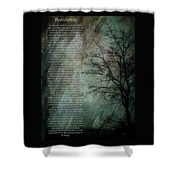 Desiderata Of Happiness - Vintage Art By Jordan Blackstone Shower Curtain