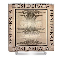 Desiderata - Spanish- Poema Escrito Por Max Ehrmann Shower Curtain