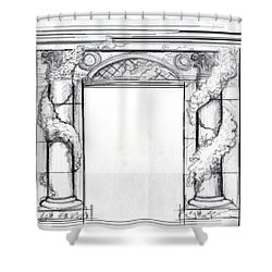Shower Curtain featuring the drawing Design For Trompe L'oeil by Thomas Lupari