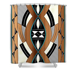 Southwest Collection - Design Two In Blue Shower Curtain