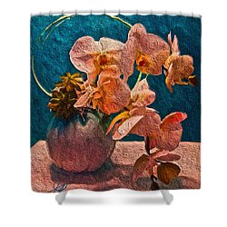 Designer Floral Arrangement Shower Curtain by Joan Reese