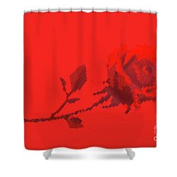 Shower Curtain featuring the photograph Designer Red Rose by Linda Phelps