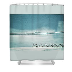 Shower Curtain featuring the photograph Designs And Lines - Winter In Switzerland by Susanne Van Hulst