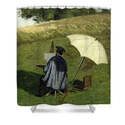 Desire Dubois Painting In The Open Air Shower Curtain by Henri Joseph Constant Dutilleux