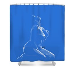 Shower Curtain featuring the mixed media Desire by TortureLord Art