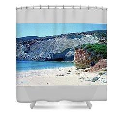 Desolated Island Beach Shower Curtain
