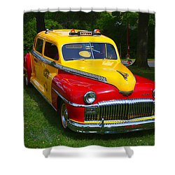 Desoto Skyview Taxi Shower Curtain by Garry Gay