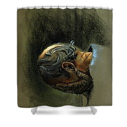 Despair. Why Are You Downcast? Shower Curtain by Graham Braddock