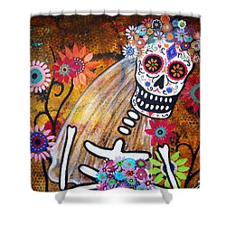 Desposada Shower Curtain by Pristine Cartera Turkus