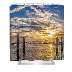 Destin Harbor #1 Shower Curtain