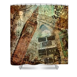 Destination London Shower Curtain