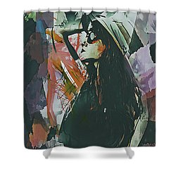 Destinations Abstract Portrait Shower Curtain