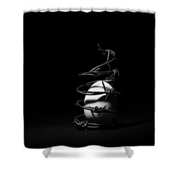 Shower Curtain featuring the photograph Destined To Be A Prisoner For Life - The Dark Side Of It All by Yvette Van Teeffelen