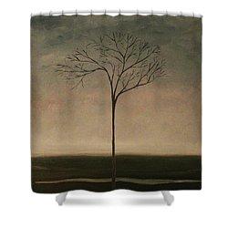 Det Lille Treet - The Little Tree Shower Curtain