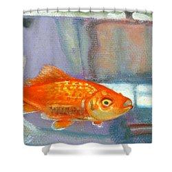 detail goldfish of Fishing Shower Curtain