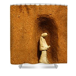 Shower Curtain featuring the photograph Detail Mission Of The Sun by Vivian Christopher