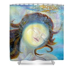 detail of Sea of the Soul Shower Curtain