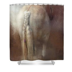 Details Shower Curtain by Kathy Russell