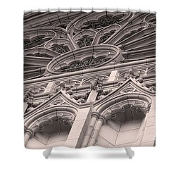 Details Of The National Cathedral Shower Curtain by John S