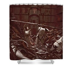Garbage Compactor 3263827 Shower Curtain