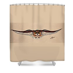 Determination Shower Curtain by Adele Moscaritolo