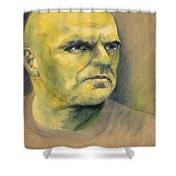 Determination / Portrait Shower Curtain